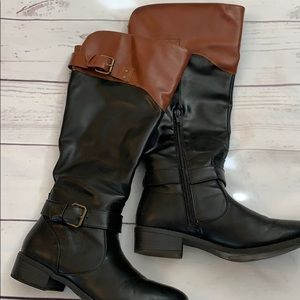 Rampage black and brown boots from Belk